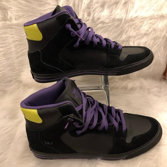 c33f5d451fd Supra Shoes | S Blackpurplehighlighter Yellow Mens 105 | Poshmark